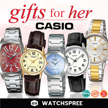 [CHEAPEST PRICE IN SPORE] GIFTS FOR HER! CASIO Leather and Stainless Steel Watches. Free Shipping!