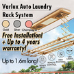 Auto Laundry Rack System | Nett price include installation and 4 years warranty | Heater |