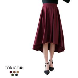 TOKICHOI - Asymmetrical Hem Skirt-172691-Winter