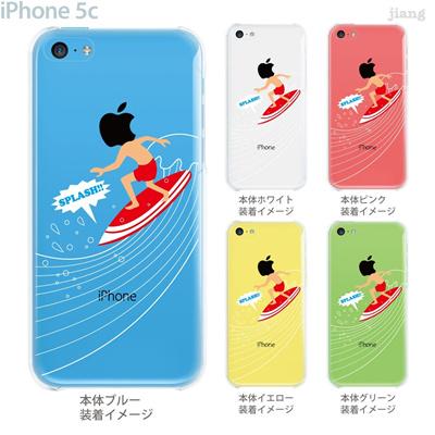 【iPhone5c】【iPhone5c ケース】【iPhone5c カバー】【ケース】【カバー】【スマホケース】【クリアケース】【クリアーアーツ】【サーフィン】 10-ip5c-ca0083の画像
