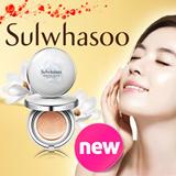 Korean Cosmetics ♥ The Golden Fishery [Sulwhasoo] Evenfair Perfecting Cushion / CC Emulsion / Makeup Balancer / Voluminating Foundation / AMOREPACIFIC / Qoo10 Big SALE!!!