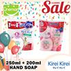 ◄ KIREI KIREI ► Hand Soap 250ml + 200ml ★ ANTI-BACTERIA YET GENTLE ON SKIN ★ Antiseptic/Refreshing Grape/Moisturizing Peach