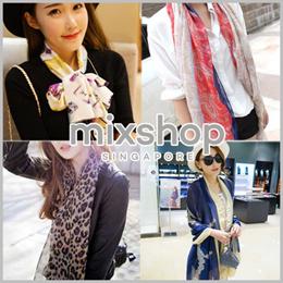 Scarf Scarves shawl Korean style long scarf wrap shawl with many design 「mixshop.sg」