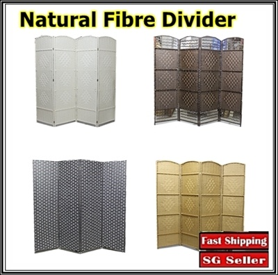 qoo10 - singapore seller/natural fibre folding screen/room divider