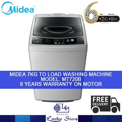 MIDEA 7KG TOP LOAD WASHING MACHINE MT725B FREE DELIVERY LOCAL WARRANTY Deals for only S$599 instead of S$0