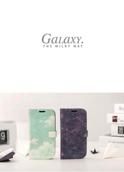 GALAXY S3 SC-06D/SC-03E対応 ケースカバー/ギャラクシーS3 docomo Samsung ギャラクシーS3ケース /Happymori THE MILKY WAY /BLACK HOLE Diaryの画像