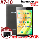 [FREE MicroSD 32GB] LENOVO TAB2 A7-10 TABLET WITH GOOGLE PLAY/1.3GHz Quad-core 1GB RAM Android 4.4/Best price android tablet/New release on Jan 2015