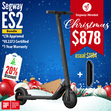 🎄Christmas Sale🎄Segway ES2 Escooter➕External Battery | 💯OFFICIAL DISTRIBUTOR | UL2272 ✅
