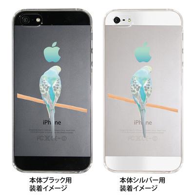【iPhone5S】【iPhone5】【まゆイヌ】【Clear Arts】【iPhone5ケース】【クリア カバー】【スマホケース】【クリアケース】【ハードケース】【着せ替え】【イラスト】【もの想うセキセイインコ】 26-ip5-md0007の画像