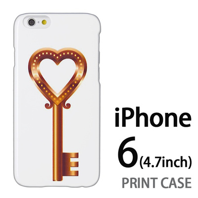 iPhone6 (4.7インチ) 用『0113 恋の鍵 金』特殊印刷ケース【 iphone6 iphone アイフォン アイフォン6 au docomo softbank Apple ケース プリント カバー スマホケース スマホカバー 】の画像