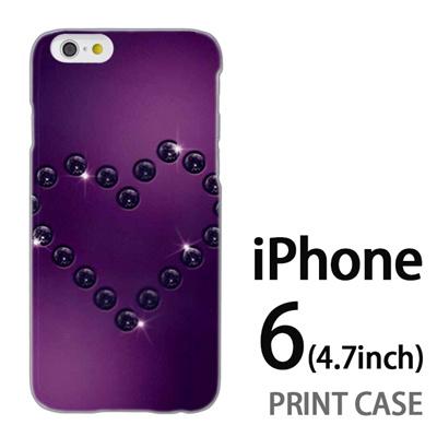 iPhone6 (4.7インチ) 用『No4 ダイヤハート 紫』特殊印刷ケース【 iphone6 iphone アイフォン アイフォン6 au docomo softbank Apple ケース プリント カバー スマホケース スマホカバー 】の画像