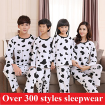 2016  men sleepwear women pajamas Korean style cartoon pajamas cotton pajamas boys and girls pajamas couple pajamas Long Sleeve Pyjamas family suit lovers sleepwear of high quality