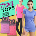 [SweetangelShop]*Local Seller/Local Exchange* SG50 with 50 Sports - Premium Ladies Sports Top / Shirt / Tank Top / Bra Top