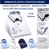 Finest 100% cotton men shirts /slim cut /wrinkle free/ business / dress shirt / light / Comfy .