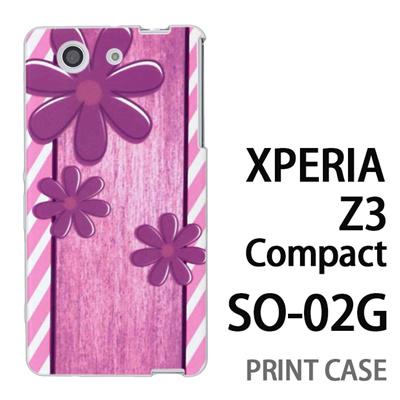 XPERIA Z3 Compact SO-02G 用『No3 スリーフラワーズ』特殊印刷ケース【 xperia z3 compact so-02g so02g SO02G xperiaz3 エクスペリア エクスペリアz3 コンパクト docomo ケース プリント カバー スマホケース スマホカバー】の画像