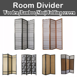 Widest selections!【Premium Wdn/Bamboo/Shoji Room Divider Folding Screen】Fengshui/Privacy/Decoration