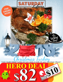Christmas Freshly Baked Turkey (Free Vouchers + Roasted Potato for self-collect) (PRE-ORDER NOW!!!)