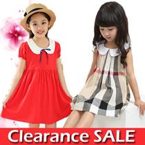 Kids Checked dress  Red dress Causual dress  Princess School Dress Festive Dress T-shirt