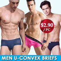 [L-XXXL] Mesh Modal U-convex Mens Brief / Mesh Hole Design with Soft Material / Comfortable Cooling / The Man Health Essential Choice!