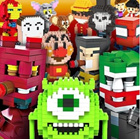 ★Mini block★ Le.go Nano block(Mini block) Avengers/Mickey/Minnie/Monsters ink/Winnie the Pooh/Elmo/Olaf/Tom and Jerry/Anna/Elsa/Minion/Anpanman/Mario and Luigi/Goofy/Iron man/Spider man 나노블럭 기획전 상품설명용