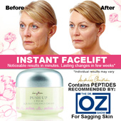 INSTANT PUSH UP Face Cream *Dr. OZ TV SHOW RECOMMENDED PEPTIDES *COLLAGEN REPLACEMENT *FIRMER SKIN WITHIN 1 HOUR! 30ml Premium Ingredients From Norway