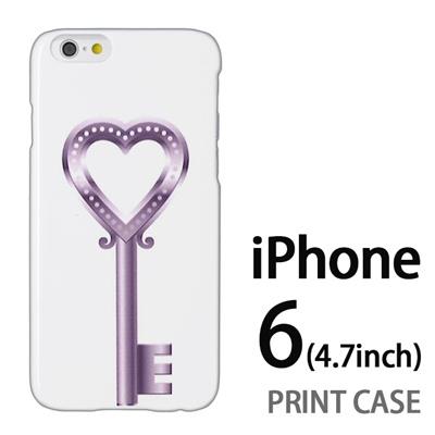 iPhone6 (4.7インチ) 用『0113 恋の鍵 銀』特殊印刷ケース【 iphone6 iphone アイフォン アイフォン6 au docomo softbank Apple ケース プリント カバー スマホケース スマホカバー 】の画像