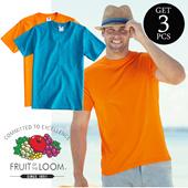 GET 3pcs ★ ★ ★ USA Fruit of the Loom Soft Premium   8 Pilihan Warna Size S - XL  SETIAP PEMBELIAN LANGSUNG MENDAPATKAN 3 PCS
