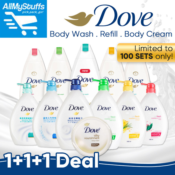 ?Dove?[BUNDLE OF 3] Total 3 Litre Body Wash Deals for only S$15.9 instead of S$0