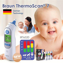 ❤FREE QXPRESS❤ Authentic BRAUN ThermoScan 7 IRT6520/ NTF3000 No Touch Plus Forehead Ear Thermometer.
