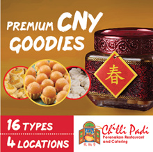 [CNY OFFER] CHILLI PADI Premium Hand-made CNY Goodies. 16 Varieties. Exquisite Packaging Perfect for Gifts. Pineapple Tarts.Love Letters.Shrimp Rolls.Happy Chinese New Year.