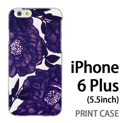 iPhone6 Plus (5.5インチ) 用『1221 花アート 水』特殊印刷ケース【 iphone6 plus iphone アイフォン アイフォン6 プラス au docomo softbank Apple ケース プリント カバー スマホケース スマホカバー 】の画像
