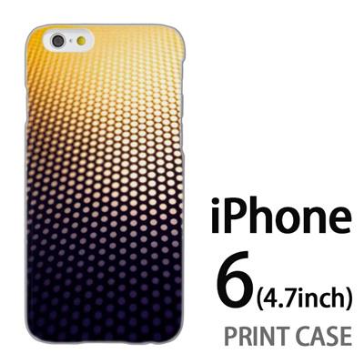 iPhone6 (4.7インチ) 用『No4 ドットグラデーション』特殊印刷ケース【 iphone6 iphone アイフォン アイフォン6 au docomo softbank Apple ケース プリント カバー スマホケース スマホカバー 】の画像