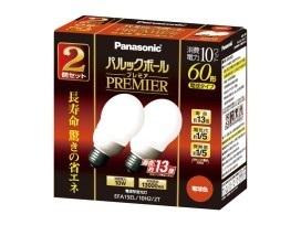 【クリックで詳細表示】Panasonic パルックボールプレミア A15形 電球色(2個入) EFA15EL10H22T