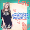 [LOOSEFIT TOPS] cotton tops/Embroidery tops /chiffon/ plus size/ Bohemian Style/Tunic /printed Tops