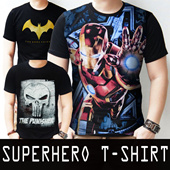 NEW ITEMS|SUPERHEROES T-SHIRT|LIMITED EDITION|SPANDEX 3D|COTTON|FIT TO L