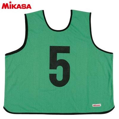 MIKASA(ミカサ) ゲームジャケット ラージサイズ (1~15番) GJL2-G 【ビブス ゲームベスト 試合 練習用品】の画像