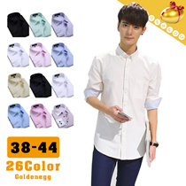 ☆Gentlemen◆Stylish Dress Shirts for Men◆High Quality Material n Good Workmanship/ Euro Long Sleeve Dandy Shirts/ Pattern design-28 colors/ 38-44 Plus Size
