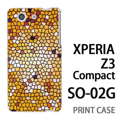 XPERIA Z3 Compact SO-02G 用『No3 モザイクステンドグラス』特殊印刷ケース【 xperia z3 compact so-02g so02g SO02G xperiaz3 エクスペリア エクスペリアz3 コンパクト docomo ケース プリント カバー スマホケース スマホカバー】の画像
