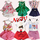 new arrivals! Popular new! Childrens clothing! Popular set! Children dress shirt + / shorts. Very cute girl! The best combination and loose Chiffon sleeves shirt + trousers striped T-shirt SJ129