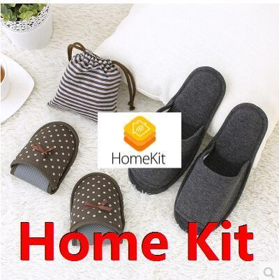 Hotel Travel portable folding slippers winter indoor slippers slip waterproof pouch Deals for only S$19.76 instead of S$0