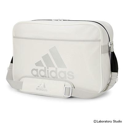 アディダス (adidas) LIGHT エナメル L(ホワイト×シルバーメット) KBQ63-AB0947 [分類:エナメルバッグ (大型)] 送料無料の画像