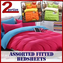FITTED BEDSHEETS / BEDDINGS / QUILT COVERS / PILLOW CASES / ASSORTED COLOURS / SINGLE / QUEEN / KING