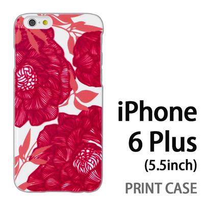 iPhone6 Plus (5.5インチ) 用『1221 花アート 赤』特殊印刷ケース【 iphone6 plus iphone アイフォン アイフォン6 プラス au docomo softbank Apple ケース プリント カバー スマホケース スマホカバー 】の画像