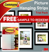 [Official E-Store] Command™ Picture Hanging Strips Sample Pack / SG50 Jubilee Giveaway / Trial Pack / FREE / Shipping applies