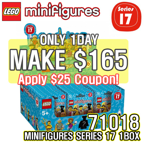 [MAKE $165! for 1BOX] LEGO Minifigures Series 17 71018 Deals for only S$249 instead of S$0