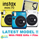 ♥[Free Gifts + Film]♥ Latest Instax Mini 70 Polaroid Instant Camera mini8 mini25 mini50s mini7s mini70 25 50S