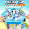 [Japan Hottest Game] Penguin Trap Crush Ice Game | Family Fun | Board Games