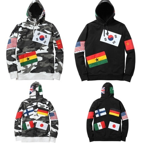 Qoo10 - K-POP Idol Style - Supreme Flag Pullover Size Hoody T-Shirts ...