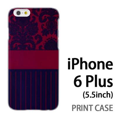 iPhone6 Plus (5.5インチ) 用『1221 絨毯柄 紺』特殊印刷ケース【 iphone6 plus iphone アイフォン アイフォン6 プラス au docomo softbank Apple ケース プリント カバー スマホケース スマホカバー 】の画像
