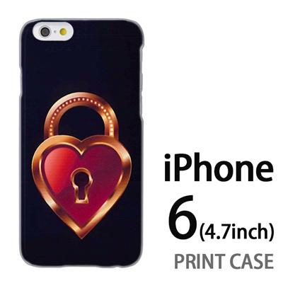iPhone6 (4.7インチ) 用『0113 恋の鍵穴 茶』特殊印刷ケース【 iphone6 iphone アイフォン アイフォン6 au docomo softbank Apple ケース プリント カバー スマホケース スマホカバー 】の画像